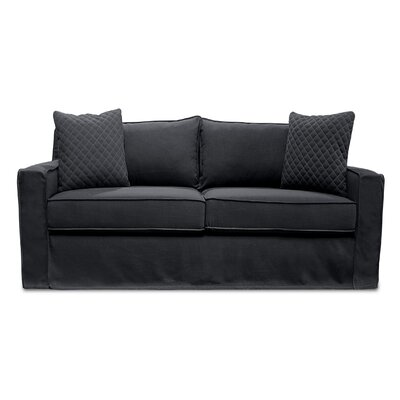 The William Slipcover Sofa Upholstery: Charcoal