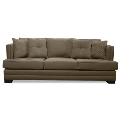 West Lux Sofa Upholstery: Brown