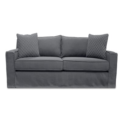 The William Slipcover Sofa Upholstery: Gray