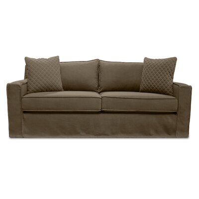 The William Slipcover Sofa Upholstery: Brown