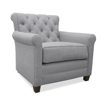 Monza Arm Chair Upholstery: Grey