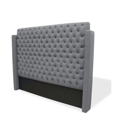 Franck Upholstered Wingback Headboard Upholstery: Gray, Size: King