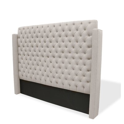 Franck Upholstered Wingback Headboard Size: Queen, Upholstery: Sand