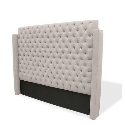 Franck Upholstered Wingback Headboard Upholstery: Sand, Size: King