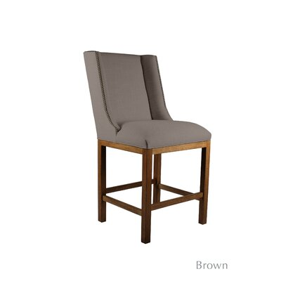 Harper 26 Bar Stool Upholstery: Brown, Finish: Cognac