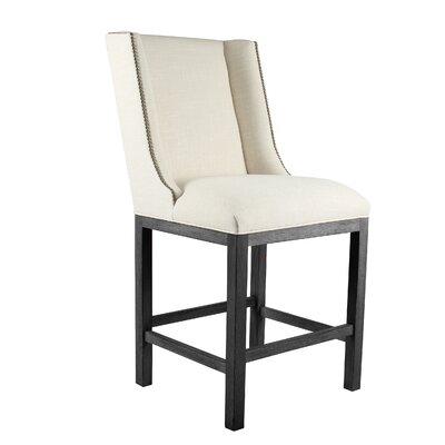 Harper 30 Bar Stool Upholstery: Sand, Finish: Gray