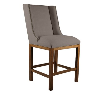 Harper 26 inch Bar Stool Upholstery: Brown, Finish: Cognac