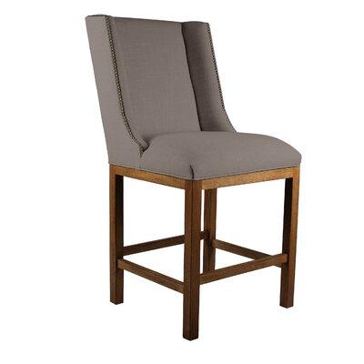 Harper 26 Bar Stool Upholstery: Brown, Finish: Cognac
