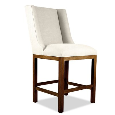 Harper 30 Bar Stool Upholstery: Sand, Finish: Cognac