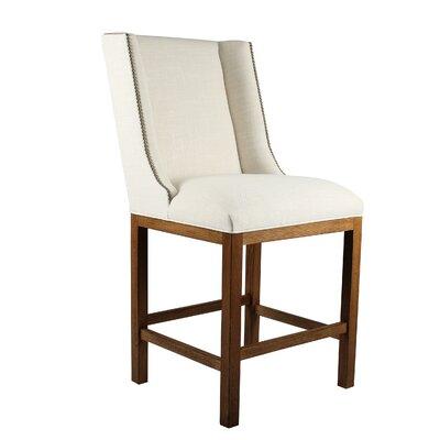 Harper 26 Bar Stool Upholstery: Sand, Finish: Cognac