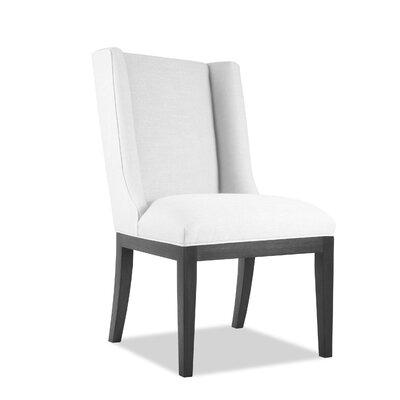 Harper Side Chair Upholstery: White, Finish: Gray