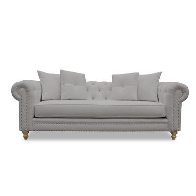 Hanover Tufted Linen Chesterfield Sofa Upholstery: Linen