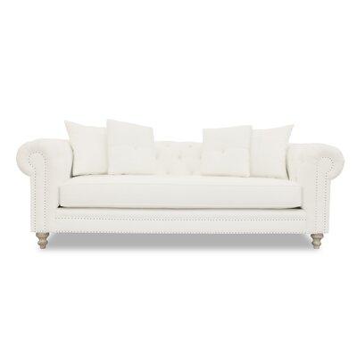 Hanover Tufted Linen Chesterfield Sofa Upholstery: Sand