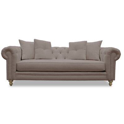 Hanover Tufted Linen Chesterfield Sofa Upholstery: Cashmere