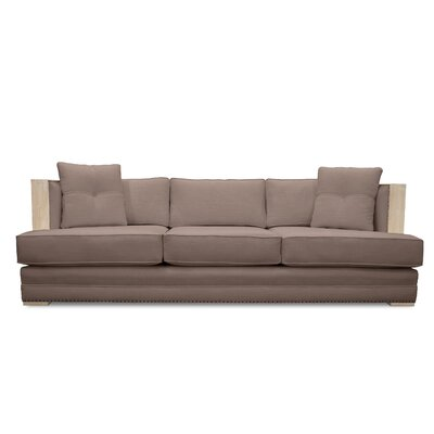 Marion Vintage Linen Sofa Finish: Brown