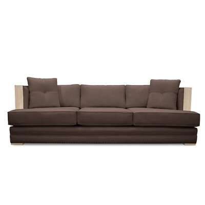 Marion Vintage Linen Sofa Finish: Coffee