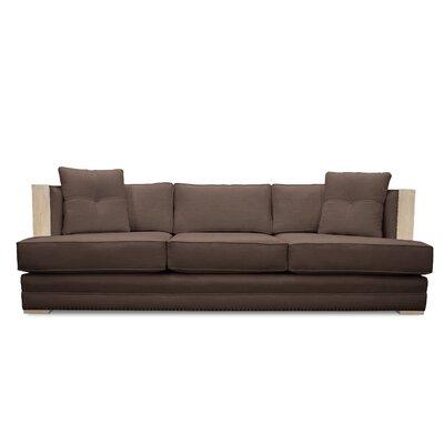 Marion Vintage Linen Sofa Finish: Coffee