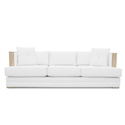 Marion Vintage Linen Sofa Finish: White