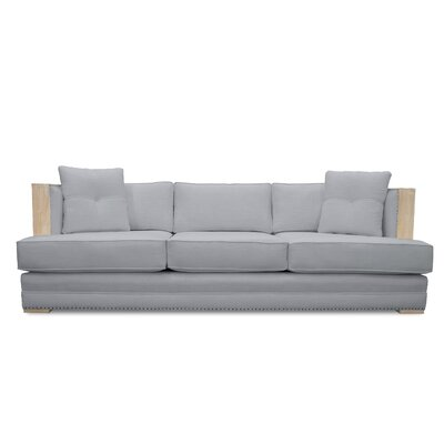 Marion Vintage Linen Sofa Finish: Gray