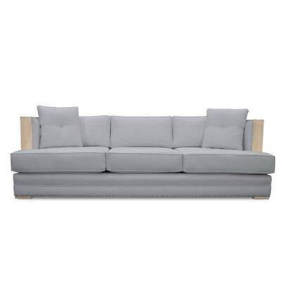 Marion Vintage Linen Sofa Finish: Gray