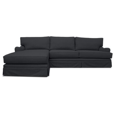 Sectional Upholstery: White, Orientation: Left Hand Facing