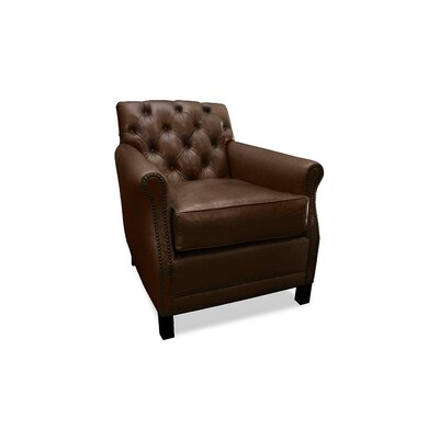 Riga Leather Club Chair Finish: Chocolate