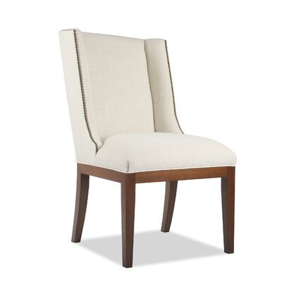 Harper Side Chair Upholstery: Charcoal, Finish: Cognac