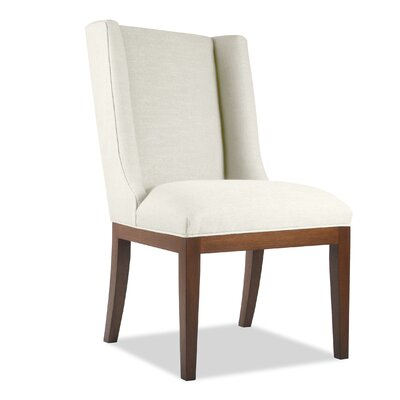 Harper Side Chair Upholstery: White, Finish: Cognac