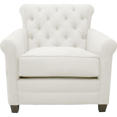 Monza Arm Chair Upholstery: White