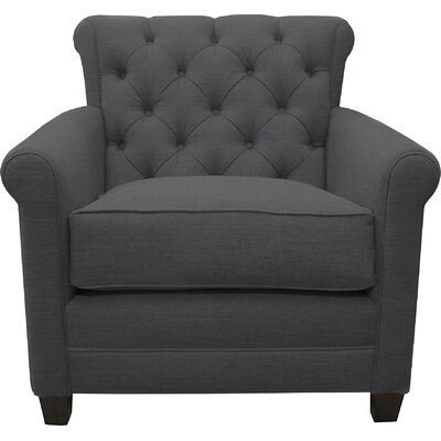 Monza Arm Chair Upholstery: Charcoal