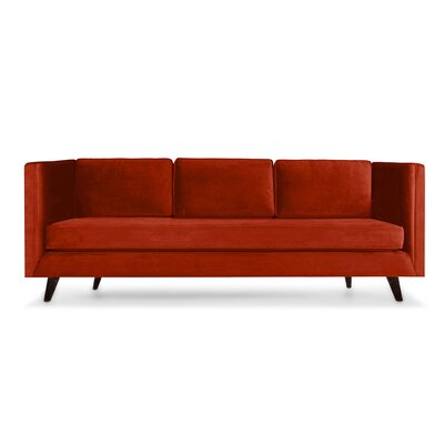 Howard 72 Sofa Upholstery: Red