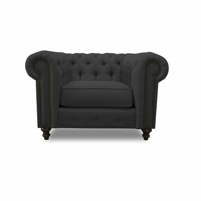 Hanover Chesterfield Chair Upholstery: Charcoal
