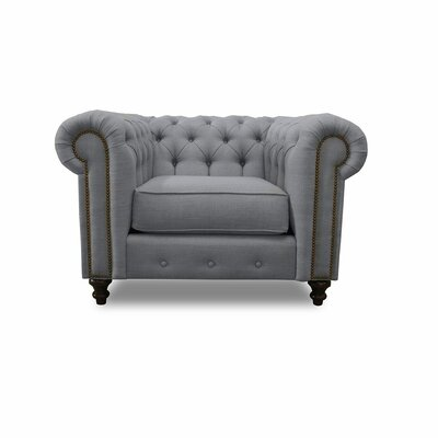 Hanover Chesterfield Chair Upholstery: Gray