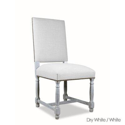 Weston Reclaimed Wood Rectangular Dining Set Finish: Dry White, Upholstery: White