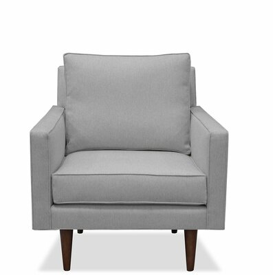 Cleo Arm Chair Upholstery: Gray