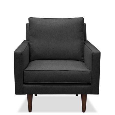 Cleo Arm Chair Upholstery: Charcoal