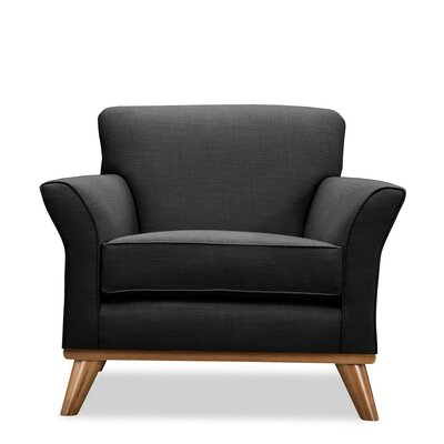 Jay Arm Chair Upholstery: Charcoal