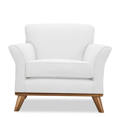 Jay Arm Chair Upholstery: White