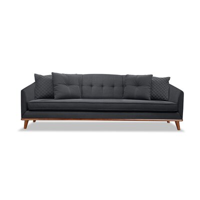 Roy 72 Sofa Upholstery: Charcoal