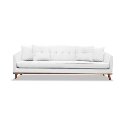 Roy 72 Sofa Upholstery: White