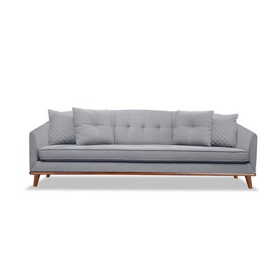 Roy 96 Sofa Upholstery: Gray