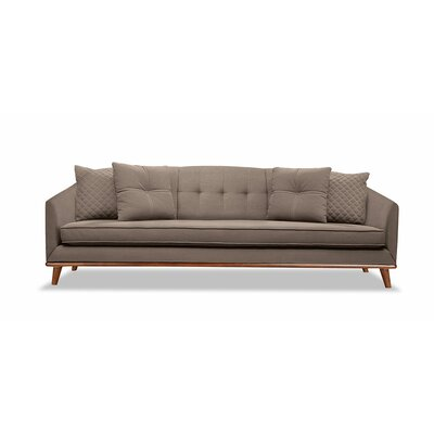 Roy 96 Sofa Upholstery: Brown