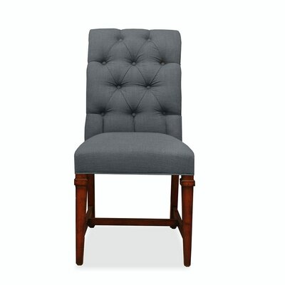 Aileen Tufted Parsons Chair Upholstery: Gray