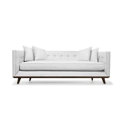 Grace 94 Sofa Upholstery: White