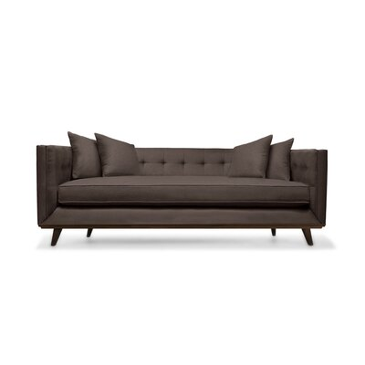 Grace 94 Chesterfield Sofa Upholstery: Coffee