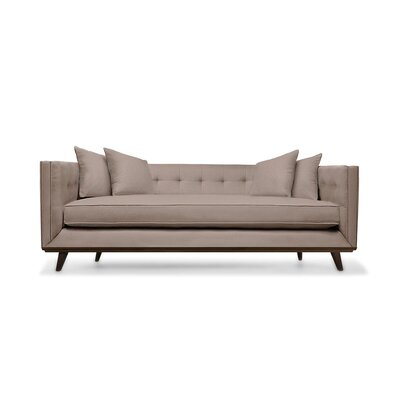 Grace 94 Sofa Upholstery: Brown