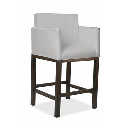 Hanshaw 30 Bar Stool Upholstery: Linen