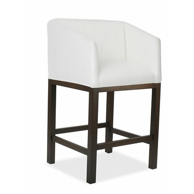 Marion 30 Bar Stool Upholstery: White