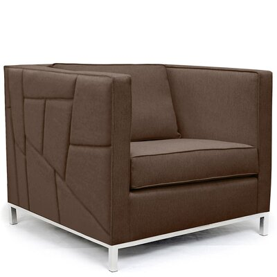 Lawrence Convertible Chair Upholstery: Brown