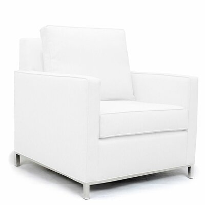 Audrey Arm Chair Upholstery: White